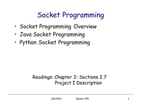 programming sockets in java But, what about connecting processes on separate computers java provides  access to os sockets (originally from bsd) that allow two or more processes on.