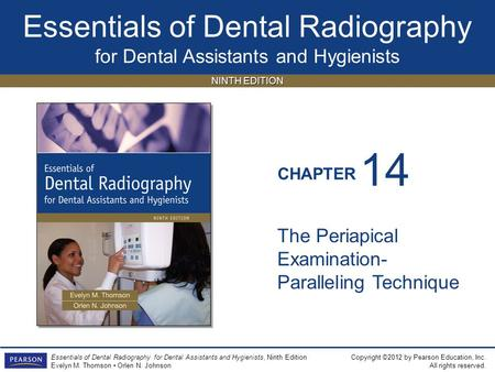 14 The Periapical Examination-Paralleling Technique.