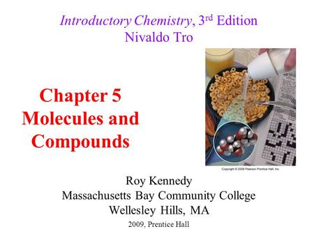 Introductory Chemistry, 3rd Edition Nivaldo Tro