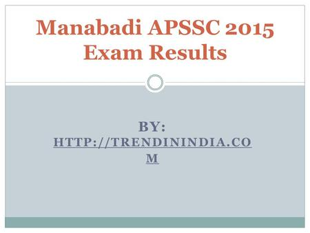 BY:  M Manabadi APSSC 2015 Exam Results.