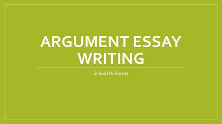 against uniforms essay