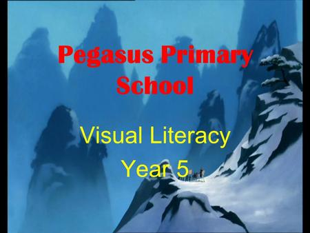 Pegasus Primary School Visual Literacy Year 5. Background to Pegasus In Castle Vale a large housing estate North of the city. In the last few years there.