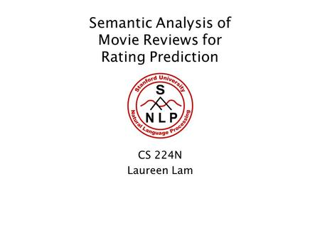 Semantic Analysis of Movie Reviews for Rating Prediction