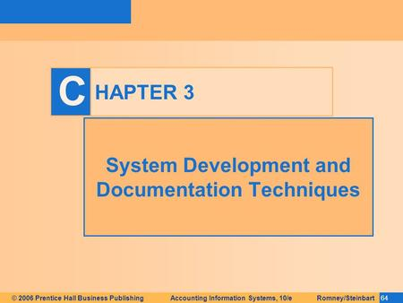 System Development and Documentation Techniques