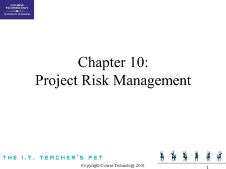 Chapter 10: Project Risk Management