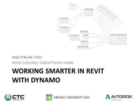 Working Smarter in Revit with Dynamo