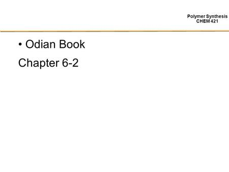 Odian Book Chapter 6-2.