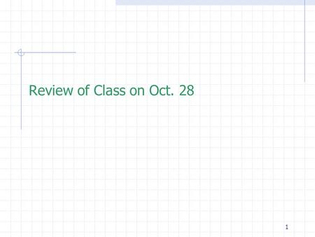 1 Review of Class on Oct. 28. 2 Outline  Pointer  Pointers to void  Call-by-Reference  Basic Scope Rules  Storage Classes  Default Initialization.