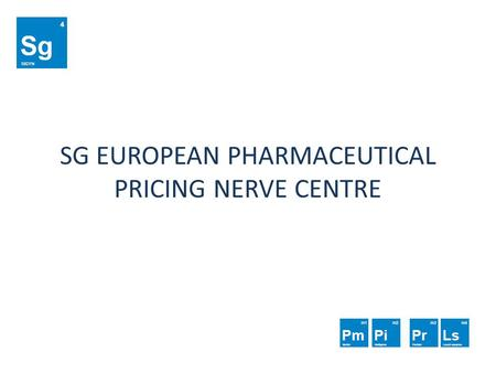 SG EUROPEAN PHARMACEUTICAL PRICING NERVE CENTRE. ABOUT SIGYN R&D Sigyn R&D is a Croatian company based in Zagreb, established in 2010. Tailor made software.
