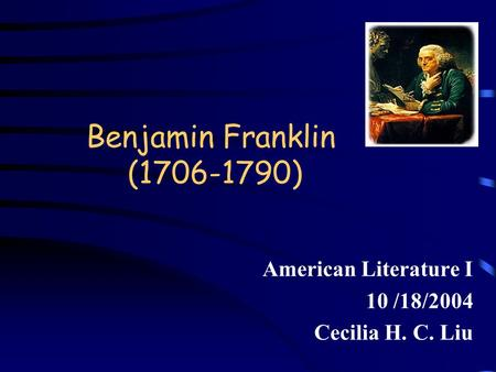 Finding Franklin: A Resource Guide