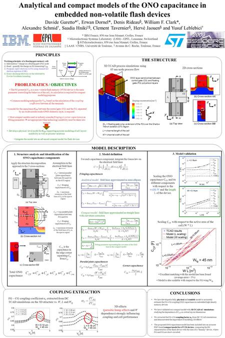 Analytical and compact models of the ONO capacitance in embedded non-volatile flash devices Davide Garetto* †, Erwan Dornel*, Denis Rideau §, William F.