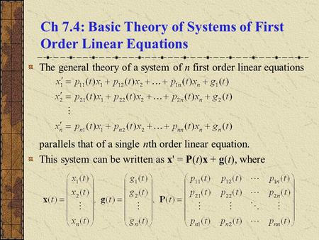 basic theory of ordinary differential equations pdf