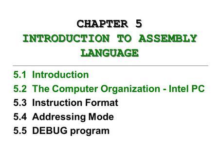 intel 8088 instruction set