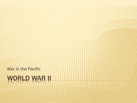 "War in the Pacific.  Phase 1: September 1939 to June 1940 ""Phony war"" – when little happened in Western Europe after Germany invaded Poland."