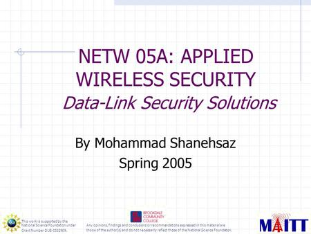 thesis proposal wireless lan security 210 security because wireless technology has roots in military applications, security has long been a wireless local area network proposal 2 1 wireless.