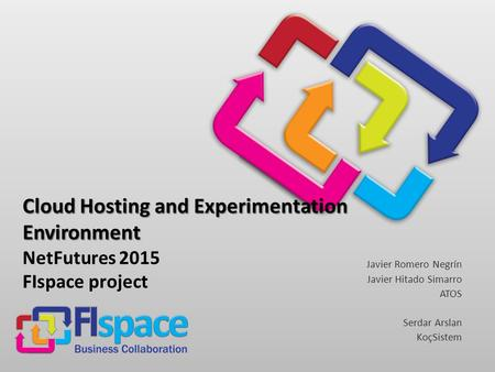 Cloud Hosting and Experimentation Environment Cloud Hosting and Experimentation Environment NetFutures 2015 FIspace project Javier Romero Negrín Javier.