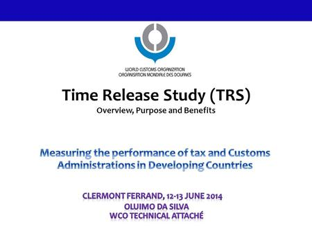 Time Release Study (TRS) Overview, Purpose and Benefits 1.