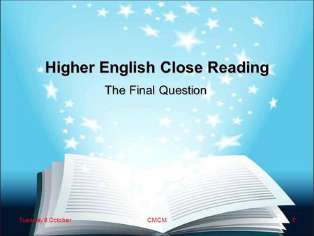 higher english essay writing