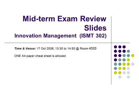 Midterm exam