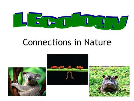 I. Ecology Connections in Nature.