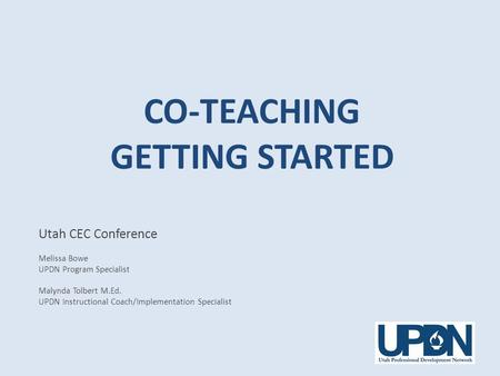 Co-Teaching Getting Started