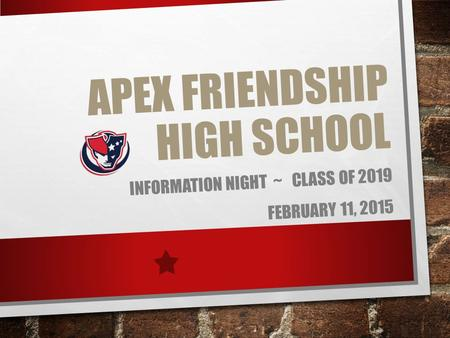 Apex Friendship High School