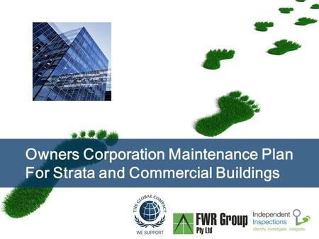 Page  1 Owners Corporation Maintenance Plan For Strata and Commercial Buildings.