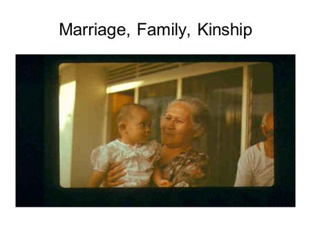 Marriage, Family, Kinship. MAKING US, MAKING THEM Incest taboo The prohibition of sexual relations between specified individuals, usually parent-child.