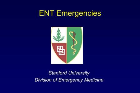 Stanford University Division of Emergency Medicine