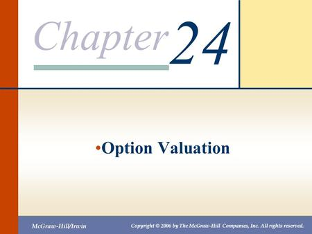 24 Option Valuation.
