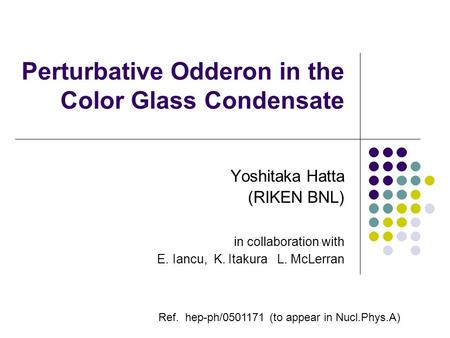 Perturbative Odderon in the Color Glass Condensate