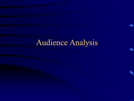 Audience Analysis. Why is it important? Audiences are egocentric. (WIIFM?) Audiences will judge a speech based on what they already know and believe.