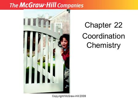 Chapter 22 Coordination Chemistry