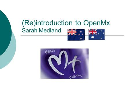 (Re)introduction to OpenMx Sarah Medland. Starting at the beginning  Opening R Gui – double click Unix/Terminal – type R  Closing R Gui – click on the.
