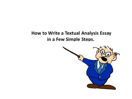 essay textual analysis