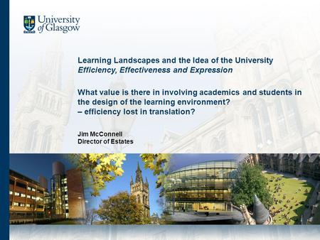 What value is there in involving academics and students in the design of the learning environment? – efficiency lost in translation? Learning Landscapes.