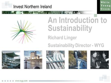 Www.wyg.com Invest Northern Ireland An Introduction to Sustainability Richard Linger Sustainability Director - WYG.