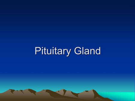 Pituitary Gland. The normal microscopic appearance of the pituitary gland.