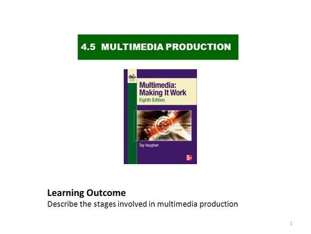 Learning Outcome 4.5 MULTIMEDIA PRODUCTION