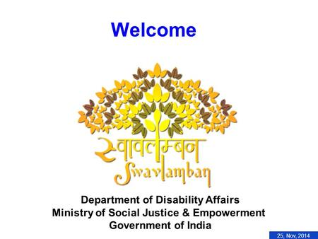 Welcome Department <strong>of</strong> Disability Affairs