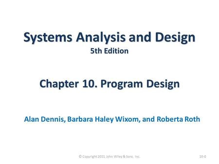 © Copyright 2011 John Wiley & Sons, Inc.