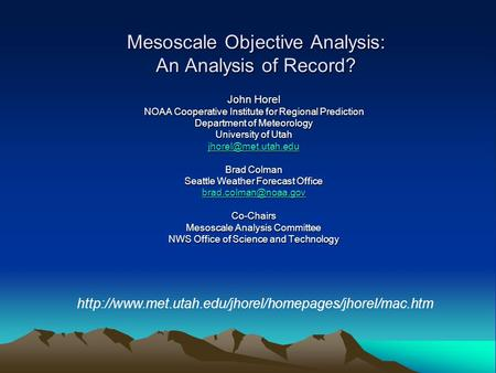 Pacific Predictability Perspective Of A NWS Forecast Office Brad - Weather seattle noaa