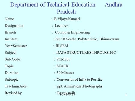 Department of Technical Education Andhra Pradesh
