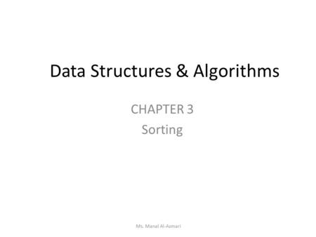 sorting applications in data structure