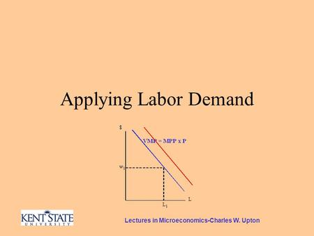 Lectures in Microeconomics-Charles W. Upton Applying Labor Demand.