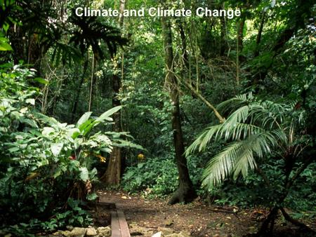 Climate and Climate Change. OUTLINE OF CLIMATE AND CLIMATE CHANGE As we travel around the <strong>Earth</strong>, we experience grand changes in climate from lush rainforests.