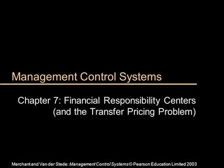 management control systems rewards systems