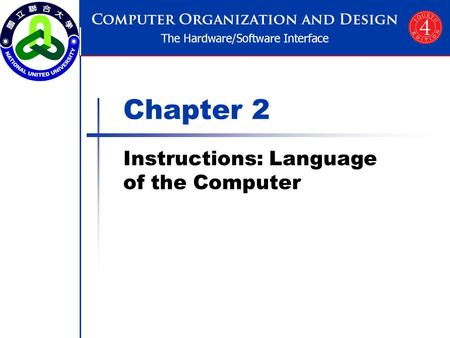 Chapter 2 Instructions: <strong>Language</strong> of the Computer.