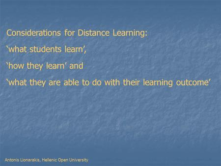 introduction for learning skills for open distance learners Through open and distance learning in india  introduction higher education  quality learning process in distance learners through interactive activities.