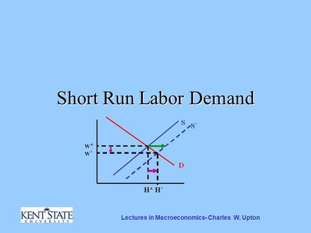 Lectures in Macroeconomics- Charles W. Upton Short Run Labor Demand.